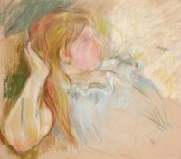 Jeune fille étendue